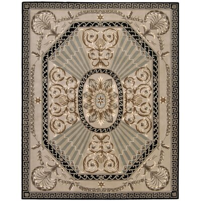 Versaille Palace Hand-Tufted Beige Area Rug Rug Size: 36 x 56
