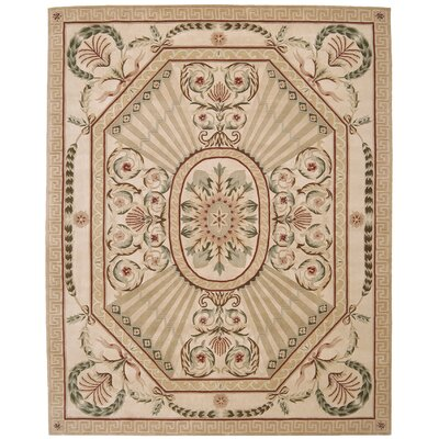 Versaille Palace Hand-Tufted Blush Area Rug Rug Size: 53 x 83