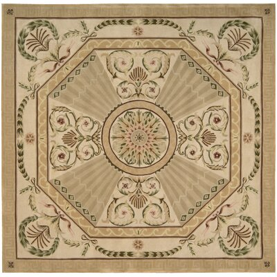Versaille Palace Hand-Tufted Blush Area Rug Rug Size: Square 8