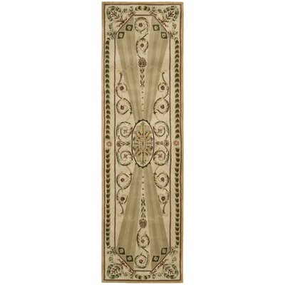 Versaille Palace Hand-Tufted Blush Area Rug Rug Size: Runner 23 x 8