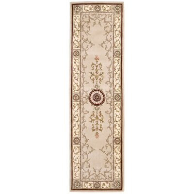 Villiam Tufted / Hand Woven Wool Beige Area Rug Rug Size: Runner 23 x 8