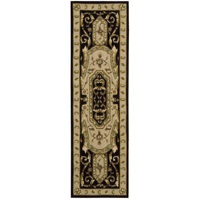 Versaille Palace Black Rug Rug Size: Runner 23 x 8