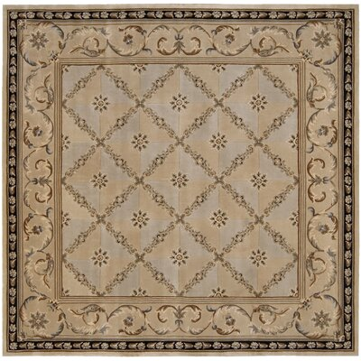 Brownlee Brown/Tan Wool Area Rug Rug Size: Square 8
