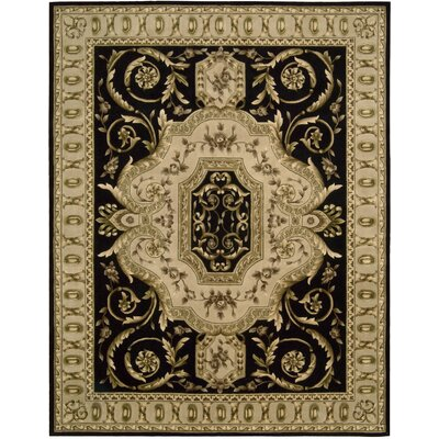 Versaille Palace Black Rug Rug Size: 76 x 96