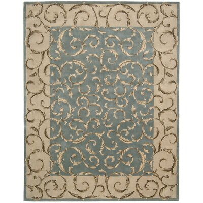 Versaille Palace Hand-Tufted Aqua Area Rug Rug Size: 8 x 11
