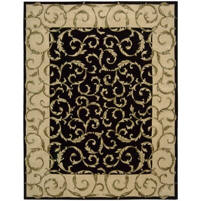 Versaille Palace Hand-Tufted Black Area Rug Rug Size: 76 x 96