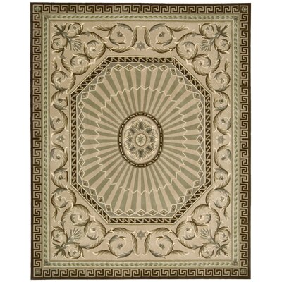 Versaille Palace Mocca Rug Rug Size: 53 x 83