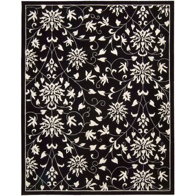 Versaille Palace Black/White Rug Rug Size: 96 x 136
