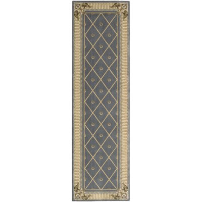 Ashton House Blue Area Rug Rug Size: Runner 23 x 8