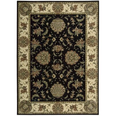 Elwyn Black Area Rug Rug Size: Rectangle 53 x 74