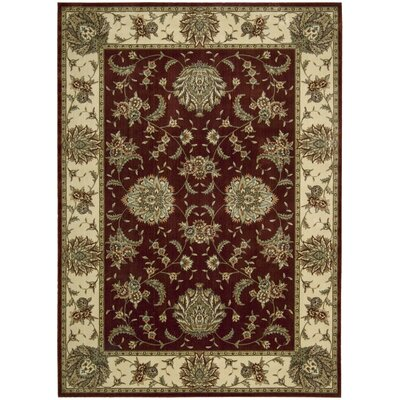 Elwyn Brick Area Rug Rug Size: Rectangle 36 x 56
