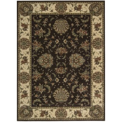 Elwyn Chocolate Area Rug Rug Size: Rectangle 79 x 1010