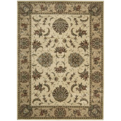 Cambridge Ivory/Gold Area Rug Rug Size: 53 x 74