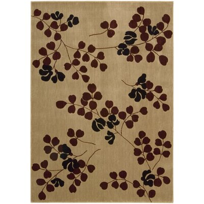Cambridge Tan Area Rug Rug Size: 53 x 74