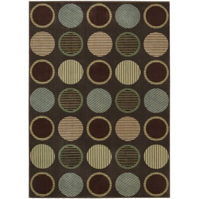 Artemis Chocolate Area Rug Rug Size: Rectangle 79 x 1010