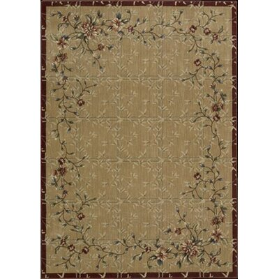 Tibbett Beige/Red Area Rug Rug Size: Rectangle 2 x 29