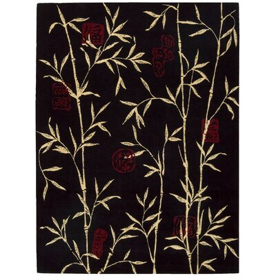 Duanesburg Black Area Rug Rug Size: Rectangle 56 x 75