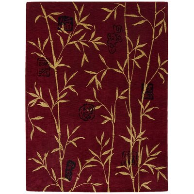 Duanesburg Red Area Rug Rug Size: Rectangle 76 x 96