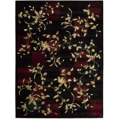 Yajaira Black Area Rug Rug Size: Rectangle 76 x 96