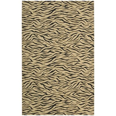 Dunnstown Hand-Woven Wool Beige Area Rug Rug Size: Rectangle 76 x 96
