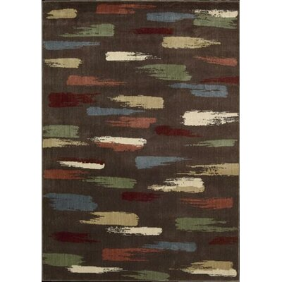 Expressions Chocolate Area Rug Rug Size: 36 x 56