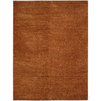 Torvehallerne Hand-Tufted Rust Area Rug Rug Size: 56 x 75