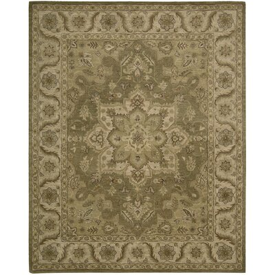 Danton Hand-Woven Olive Area Rug Rug Size: Rectangle 8 x 106