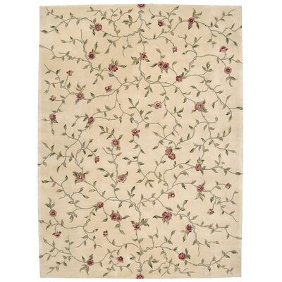 Kendra Hand-Tufted Light Gold Area Rug Rug Size: 5'3