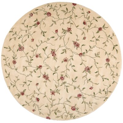 Julian Hand-Tufted Light Gold Area Rug Rug Size: Round 8