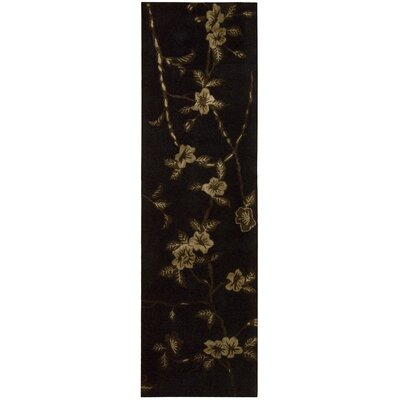 Dupoint Hand-Tufted Black Area Rug Rug Size: Runner 23 x 8