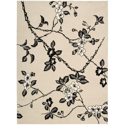 Dupoint Hand-Tufted Black/White Area Rug Rug Size: Rectangle 56 x 75