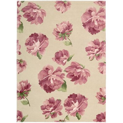 Zayden Hand-Tufted Rose Area Rug Rug Size: Rectangle 56 x 75