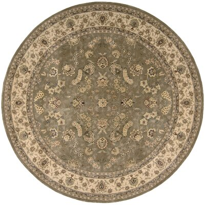 Nourison Hand Woven Wool Olive Indoor Area Rug Rug Size: Round 8