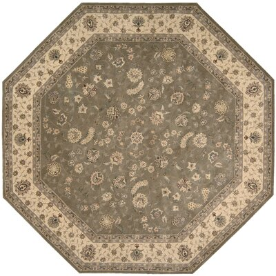 Nourison Hand Woven Wool Olive Indoor Area Rug Rug Size: Octagon 10