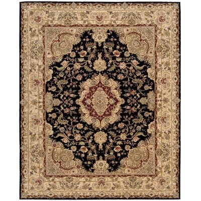 Nourison 2000 Hand-Tufted Black/Tan Area Rug Rug Size: 9'9