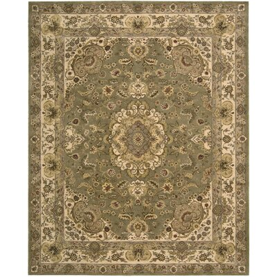 Nourison 2000 Hand Woven Wool Olive Indoor Area Rug Rug Size: 79 x 99