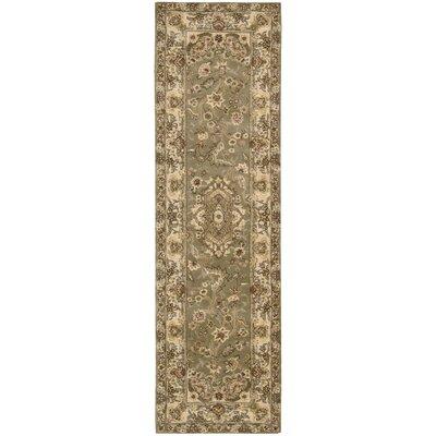 Nourison 2000 Hand-Tufted Olive Area Rug Rug Size: Runner 26 x 12