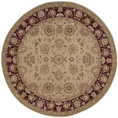 Nourison 2000 Hand Woven Wool Camel Indoor Area Rug Rug Size: Round 8