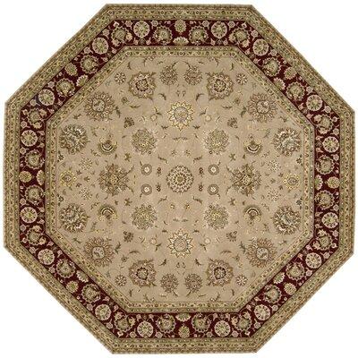 Nourison 2000 Hand Woven Wool Camel Indoor Area Rug Rug Size: Octagon 10