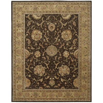 Nourison 2000 Hand Woven Wool Brown Indoor Area Rug Rug Size: 39 x 59