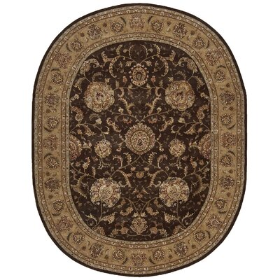 Nourison 2000 Hand-Tufted Brown Area Rug Rug Size: Oval 76