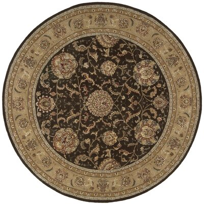 Nourison 2000 Hand-Tufted Brown Area Rug Rug Size: Round 6