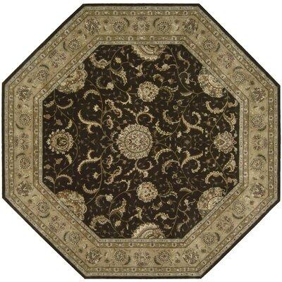 Nourison 2000 Hand Woven Wool Brown Indoor Area Rug Rug Size: Octagon 10