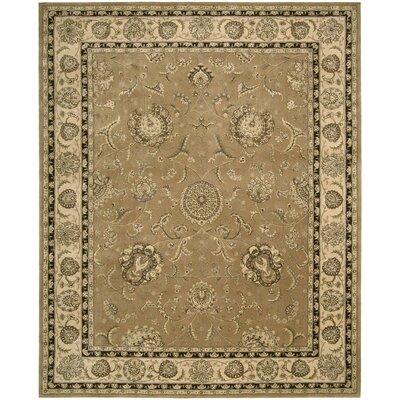 Nourison 2000 Hand Woven Wool Camel Indoor Area Rug Rug Size: 99 x 139