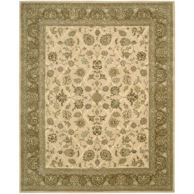 Garson Hand Woven Wool Ivory Indoor Area Rug Rug Size: Rectangle 79 x 99