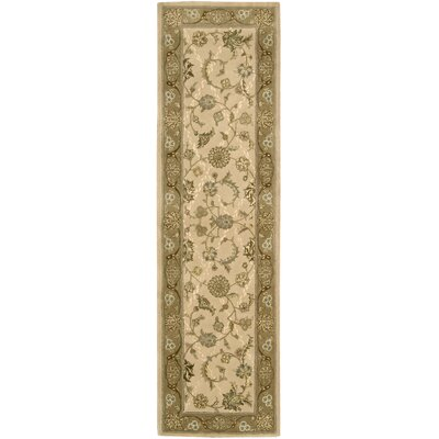 Garson Hand Woven Wool Ivory Indoor Area Rug Rug Size: Runner 23 x 8