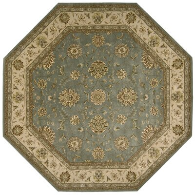 Nourison 2000 Hand Woven Wool Blue Indoor Area Rug Rug Size: Octagon 10
