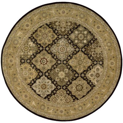 Nourison 2000 Hand Woven Wool Tan Indoor Area Rug Rug Size: Round 4