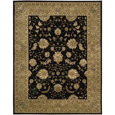 Nourison 2000 Hand Woven Wool Black/Beige Indoor Area Rug Rug Size: 39 x 59