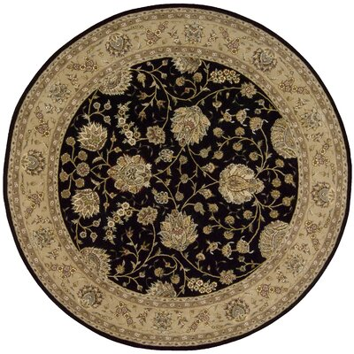 Nourison 2000 Hand Woven Wool Black/Beige Indoor Area Rug Rug Size: Round 8